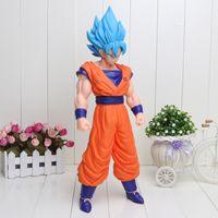 Wholesale 42cm Big Size Cartoon Dragon Ball Z Super Saiyan Son Goku PVC Action Figure Toy Model Doll Dragon Ball Figure