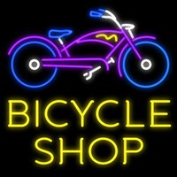 bicycle shop sale - Bicycle Shop Handcrafted Neon Sign Real Glass Tuble Light Bike Store Display Sign Advertisement Sale Logo Sign quot x24 quot