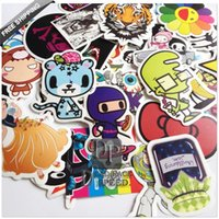 bicycle box size - 100pcs Cartoon wall Laptop stickers for guitar box skateboard sticker bicycle motor luggage sticker on phone cm size
