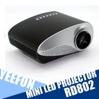 lcd projector hd - RD802 Portable Home Projector P HD LED LCD Projectors Multi Media Player HDMI VGA USB SD AV Home Theater Cinema