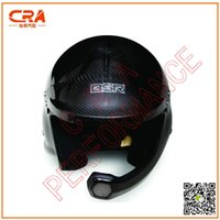 auto racing helmets - CRA Performance Snell SAH2010 Homologation Glossy Black Carbon Motorcycle Helmet Auto Racing Helmet Car Racing Helmet with HANS clip