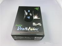 al por mayor razer mouse-Ratón 2016 de la aderencia de muerte de Razer Ratón atado con alambre óptico del juego del ratón 3500DPI del juego de la alta calidad que envía libremente
