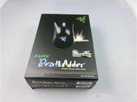 venda por atacado razer mouse-Razer Death Adder Mouse Mouse de alta qualidade para jogos 3500DPI Optical Wired Mouse frete grátis