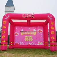 banquet tents - Inflatable tent shade Xi Peng wedding banquet double arch door inflatable