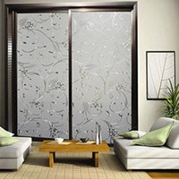 Wholesale Elegant Flower Decorative Self Adhesive Static Privacy Glass Window Film x100cm OG