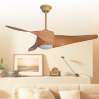 Wholesale 2017 classic ceiling fans lights led inches cm teak silver color three blade ABS fans remote control indoor led ceiling fan V V
