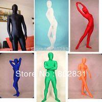 Wholesale Free P P Green Man Costume Catsuit Lycra Spandex ZENTAI Unitard