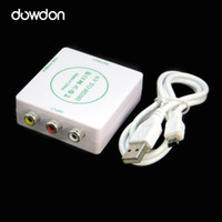 audio dvd projector - 720P AV to HDMI HD Video Audio Converter Box Adapter For PC Laptop TV US with Mini USB Cable for DVD PC Projector