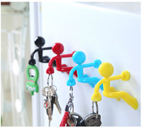 Wholesale Wall Climbing Man Multifunctional Key Holder Hook Strong Magnet Novelty Key Pete Boy Keychain