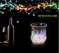 art pineapple - Hot LED Light up Liquid Colorful Party Glass Pineapple Cup Acticated Shot Glass Flashing Night Bar Cups Birthday Wedding Beverage Glass