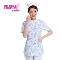 beauty dress pants - Doctor white long sleeved dress nurse short sleeved uniform experiment under drugstore beauty salon work pants cap