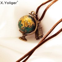 Wholesale new arrival tellurion telescope shape fashion trendy necklaces chaining G8209