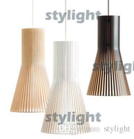 Wholesale Modern Design Pendant Lamp suspension lighting wood hanging light black white wood color wood material pendant lights