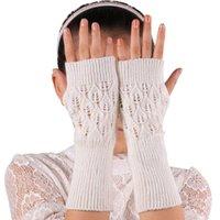 Wholesale Amazing Wrist Length Women Winter Knitted Fringe Warm Gloves