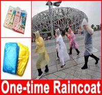 Wholesale One time Raincoat Fashion Hot Disposable PE Raincoats Poncho Rainwear Travel Rain Coat Rain Wear Travel Rain Coat