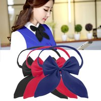 Wholesale Hot Sale Formal Commercial Bow Tie Butterfly Cravat Silk Bowtie Solid Color Marriage Bow Ties For Women Formal Business