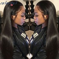 Peluca recta sin cola peruana llena del cordón España-Straight Full Lace Pelucas de Pelo Humano Silk Top Glueless Full Lace Wigs Para Negro Mujeres Peruvian Hair Silk Base Wigs