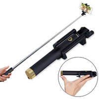 aluminum monopods - 2016 new selfie stick pocket bluetooth selfie stick wireless monopods selfie monopods protable monopods Best quality with retail packae box