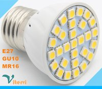 Wholesale E27 GU10 MR16 LED Spotlight W W W V V DC12V LED bulb light Energy saving Spot light lamp Crystal lamp ambry light