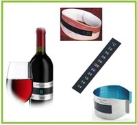 Wholesale Crystal thermometer sticker for Wine bottle or barrel measure the temperature