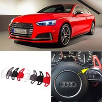 auto shifters - Auto parts Alloy Add On Steering Wheel DSG Paddle Shifters Extension For Audi S5