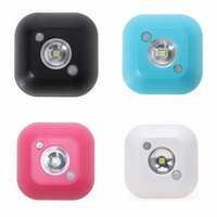 Wholesale 4 V W LM Mini Wireless Infrared Motion Sensor Ceiling Night Light AAA Battery Powered Porch Lamp