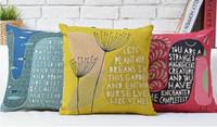 art chicks - Dandelion Deep Sea Cherry Blossom Chicks Love Romance Pillow Massager Art Painting Neck Euro Pillows Home Decor Gift