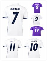 Soccer thailand football jerseys - Thailand Quality La Liga League Madrid Soccer Uniform Football Jerseys Modric Ramos Ronaldo Kroos James Bale Benzema