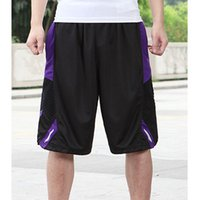 Wholesale 2016 Brand New Active Men s Breathable Basketball Shorts Polyester Loose knee length Male Running Sport gym Shorts Big Size