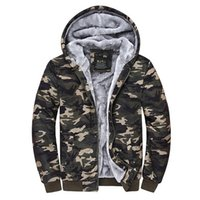 Cheap camo parka2015 Male Hooded Jackets Printed Hoody Men Camouflage Coat Sport Wear Velvet Zipper Hoodies Men Sweatshirts