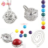 asian lanterns - New Trendy Silver Plated Round Beads D Lantern Bell Locket Necklace Fashion Jewelry