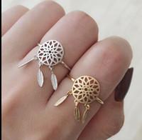 150pcs Nouvelle mode dreamcatcher bijoux 18K en argent et plaqué or indien Dream catchers midi finger ring pour femme fille bon cadeau de noel