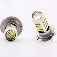 Wholesale Car Fog Light Lamp H7 SMD LEDs Pure White Yellow V Vehicle Headlight DRL Driving Running Bulbs