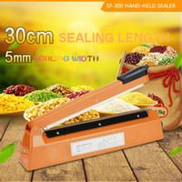 ac sealer - 12 mm Package Hand Pressure PP PE poly Bag Sealing Machine AC V Impulse Heating Plastic Bag Sealer mm Sealing Width