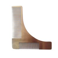 Wholesale Metal Beard Comb Stainless Steel Hair Comb Beard Shaping Shaving Tool Comb Gift Handicraft Souvnirs
