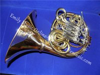 alexander french horn - F Bb Four Flats French Horn in Gold brass Body Copy of Alexander With foambody case Musical instruments