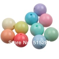 Wholesale 20mm Light Mixed Color Chunky Gumball Beads Acrylic Solid Beads Bubblegum for Necklace Jewelry DIY Beads