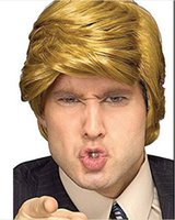 Wholesale 2016 Hot Men s Wig President Donald Straight Wig Short Wig Golden Wig Hair