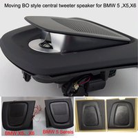 acoustic kit - 1 kit moving acoustic lens BO style car central tweeter speaker woofer for BMW series X5 X6