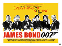 art banner - A837 ames Bond Banner EVERYTHING OR NOTHING viny Art Silk Poster x36inch