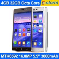 venda por atacado lenovo phone-Novo Lenovo Octa Core telefone 4GB 32GB Android 5.0 MTK6592 2.0GHz 16MP Câmera 5.5