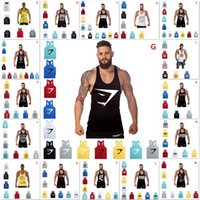 Wholesale 20 Kinds Around Colors Superman Gym Singlets Mens Tank Tops Shirt Bodybuilding Equipment Fitness Men s Golds Gym Tank Top Sports Clothes