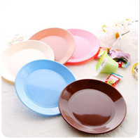 Wholesale new small colorful nut plate food grade plastic dinner plates bandeja pratos tableware snack dishes flat plate