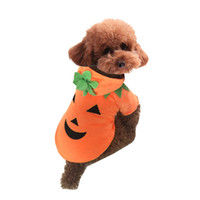 Wholesale Halloween pets clothes dog pumpkin limited time discount winter lovely