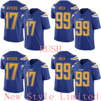 Wholesale 2016 NWT Hot Limited Newest Rush Chargers Joey Bosa Philip Rivers Stitched Embroidery Logos Men s America Football Jerseys Sweatshirts