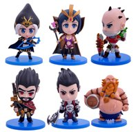 Wholesale LOL League of legends The Blind Monk Figures League Of Toys For kids Children Decoration Model Kit A set of six