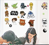 Wholesale Star Wars movie wall stickers kids rooms home decoration diy cartoon decals children gift mural art print posters