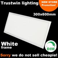 Wholesale White frame rectangular ceiling light LED ultra thin x2 LED panel light x600 white W dimmable panel LED