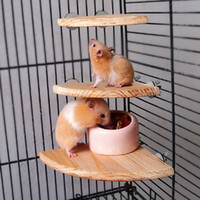 Wholesale Wooden Coin Parrot Bird hamster Cage Perches Stand Platform Size Pet Budgie Hanging Toy