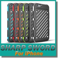 Wholesale Cases For Iphone Cross - New Style Cross Grain Sharp Sword Caseology Case Cover for iphone6 6S 6plus 6S+ Iphone TPU PC Cases 2in 1 Dual Color Protector